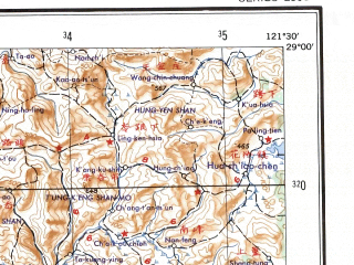 Reduced fragment of topographic map en--ams--250k--nh51-13--(1956)--N029-00_E120-00--N028-00_E121-30 in area of Yong'an Xi