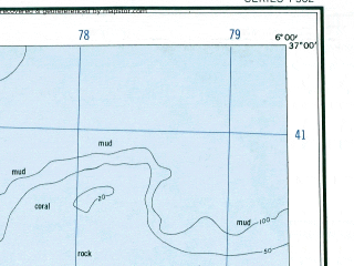 Reduced fragment of topographic map en--ams--250k--nj31-16--(1956)--N037-00_E004-30--N036-00_E006-00; towns and cities Kerrata, Mezoug, Aine Tagrout