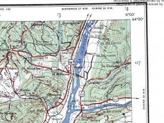 Reduced fragment of topographic map en--ams--250k--nk31-03--(1956)--N044-00_E004-00--N043-00_E006-00 in area of Etang De Berre, Etang De Vaccares, Entang De Malegal; towns and cities Marseille, Nimes, Avignon, Manosque, Rians