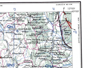 Reduced fragment of topographic map en--ams--250k--nk32-06--(1956)--N043-00_E010-00--N042-00_E012-00 in area of Lago Di Bolsena, Marta; towns and cities Grosseto, Civitavecchia, Piombino, Porto Santo Stefano, Portoferraio
