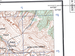 Download topographic map in area of Kutaisi Chiatura Tskhinvali