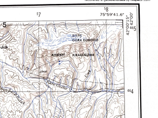 Reduced fragment of topographic map en--ams--250k--nk43-08--(1956)--N042-00_E074-00--N041-00_E076-00 in area of Ozero Song-kel; towns and cities Min-kush, At-bashi, Chayek, Dzhuan-bulak, Kairma