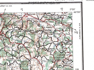 Reduced fragment of topographic map en--ams--250k--nl31-07--(1956)--N046-00_E000-00--N045-00_E002-00 in area of Lac De Vassiviere, Lac De La Vaud-gelade; towns and cities Limoges, Brive-la-gaillarde, Tulle, Montignac, Tordesillas