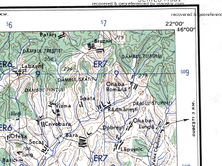 Reduced fragment of topographic map en--ams--250k--nl34-08--(1956)--N046-00_E020-00--N045-00_E022-00 in area of Belo Jezero; towns and cities Timisoara, Resita, Zrenjanin, Becej, Lugoj