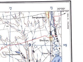 Reduced fragment of topographic map en--ams--250k--nl35-09--(1956)--N046-00_E028-00--N045-00_E030-00 in area of Ozeror Jalpuh; towns and cities Galati, Izmail, Tulcea, Kiliya, Reni