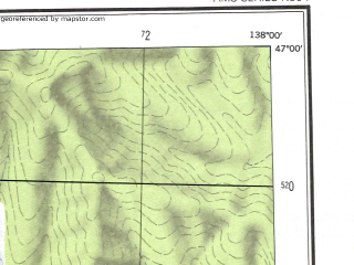 Reduced fragment of topographic map en--ams--250k--nl53-06--(1956)--N047-00_E136-00--N046-00_E138-00; towns and cities Kkhutsin