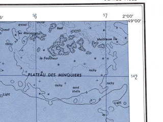 Reduced fragment of topographic map en--ams--250k--nm30-11--(1956)--N049-00_W004-00--N048-00_W002-00 in area of Reservoir De St. Michel, Lac De Guerledan; towns and cities St Brieuc, St Malo, Dinan
