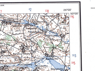 Reduced fragment of topographic map en--ams--250k--nm35-07--(1956)--N050-00_E024-00--N049-00_E026-00; towns and cities L'vov, Krekhovichi, Ternopol', Kalush, Chortkov