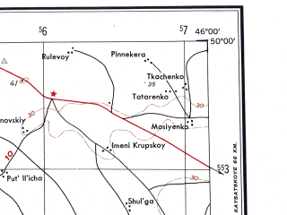Reduced fragment of topographic map en--ams--250k--nm38-08--(1956)--N050-00_E044-00--N049-00_E046-00; towns and cities Dubovka, Gornyy Balykley, Krasnyy Oktyabr, Lipovka, Antipovka