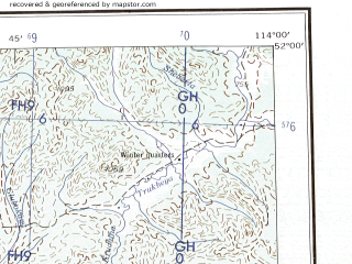 Reduced fragment of topographic map en--ams--250k--nm49-03--(1956)--N052-00_E112-00--N051-00_E114-00; towns and cities Darasun, Drovyanaya, Atamanovka, Chernovskiye Kopi, Tyrgetuy
