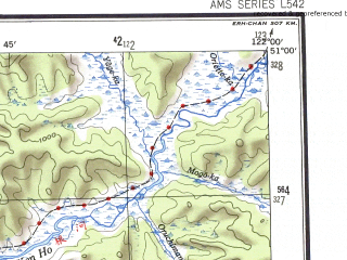 Reduced fragment of topographic map en--ams--250k--nm51-04--(1956)--N051-00_E120-00--N050-00_E122-00