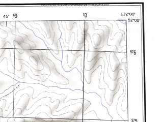 Reduced fragment of topographic map en--ams--250k--nm52-03--(1956)--N052-00_E130-00--N051-00_E132-00