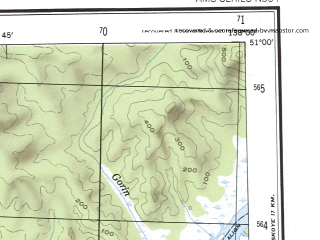 Reduced fragment of topographic map en--ams--250k--nm53-06--(1956)--N051-00_E136-00--N050-00_E138-00 in area of Ozero Hummi; towns and cities Komsomol'sk-na-amure, Amursk, Dzemgi, Solnechnyy, El'ban