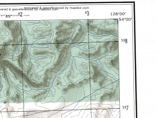 Reduced fragment of topographic map en--ams--250k--nn52-07--(1956)--N054-00_E126-00--N053-00_E128-00; towns and cities Zeya, Tygda, Aprelskiy, Ivanovka, Pioner