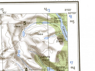 Reduced fragment of topographic map en--ams--250k--no32-01--(1956)--N060-00_E006-00--N059-00_E008-00 in area of Songavatn, Suldalsvatn, Holmavaln; towns and cities Sauda, Nesland, Dalen, Roldal