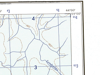 Reduced fragment of topographic map en--ams--250k--no38-04--(1956)--N059-00_E042-00--N058-00_E044-00; towns and cities Galich, Neya, Rossolovo, Bobarykino, Yelenskiy