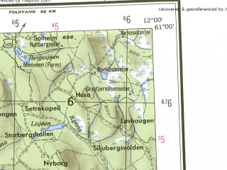 Reduced fragment of topographic map en--ams--250k--np31-16--(1956)--N061-00_E009-00--N060-00_E012-00 in area of Randsfjorden, Storsjoen, Kroderen; towns and cities Hamar, Kongsvinger, Gjovik, Honefoss, Elverum