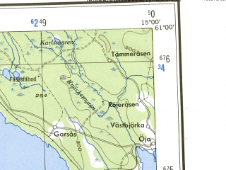 Reduced fragment of topographic map en--ams--250k--np33-13--(1956)--N061-00_E012-00--N060-00_E015-00 in area of Venjansjon, Ojesjon, Tisjon; towns and cities Leksand, Malung, Vansbro, Stora Lonnhoiden, Dala-jarna