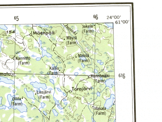 Reduced fragment of topographic map en--ams--250k--np33-16--(1956)--N061-00_E021-00--N060-00_E024-00 in area of Uskelanjoki, Pyhajarvi; towns and cities Turku, Salo, Uusikaupunki, Naantali, Forssa
