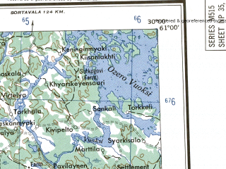 Reduced fragment of topographic map en--ams--250k--np35-14--(1956)--N061-00_E027-00--N060-00_E030-00 in area of Vyborgskij Zaliv, Muolanjarvi; towns and cities Vyborg, Sestroretsk, Vysotsk, Zelenogorsk, Hamina