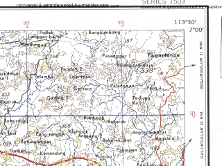 Download topographic map in area of Surabaya Malang Lamongan