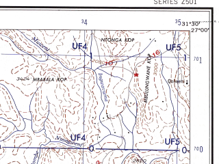 Reduced fragment of topographic map en--ams--250k--sg36-13--(1956)--S027-00_E030-00--S028-00_E031-30