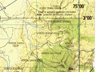 Reduced fragment of topographic map en--jog--250k--na18-06--(1992)--N003-00_W076-30--N002-00_W075-00 in area of Embalse De Betania; towns and cities Neiva, Campoalegre, Garzon, Gigante, La Plata