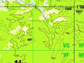 Reduced fragment of topographic map en--jog--250k--na18-14--(1995)--N001-00_W076-30--N000-00_W075-00; towns and cities Solano, Bellavista, Buenos Aires