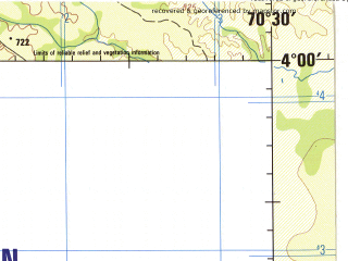 Reduced fragment of topographic map en--jog--250k--na19-01--(1992)--N004-00_W072-00--N003-00_W070-30; towns and cities China, Guayabal, La Esperanza