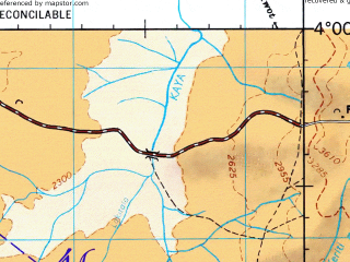 Reduced fragment of topographic map en--jog--250k--na36-01--(1967)--N004-00_E030-00--N003-00_E031-30; towns and cities Lodonga, Omugo, Terego