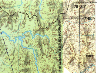 Reduced fragment of topographic map en--jog--250k--nb18-05--(1992)--N007-00_W078-00--N006-00_W076-30 in area of Golfo De Cupica; towns and cities Coredo, Murindo, Opogado