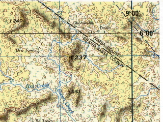 Reduced fragment of topographic map en--jog--250k--nb29-10--(1972)--N006-00_W010-30--N005-00_W009-00; towns and cities Buchanan, Greenville, Di, River Cess, Sehnkwehn
