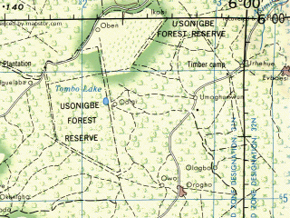Reduced fragment of topographic map en--jog--250k--nb31-12--(1972)--N006-00_E004-50--N004-22_E006-00; towns and cities Sapele, Warri, Isampo, Letugbene, Aggi