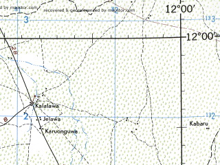 Reduced fragment of topographic map en--jog--250k--nc32-04--(1972)--N012-00_E010-30--N011-00_E012-00; towns and cities Dambam, Sabon Gari, Sade