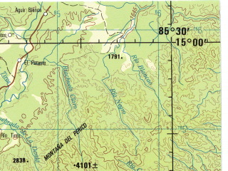 Download topographic map in area of Juticalpa Danli Salama
