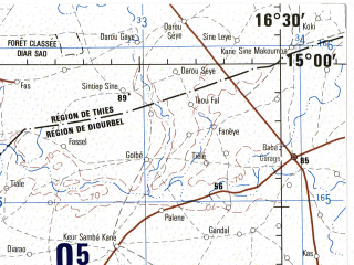 Download Topographic Map In Area Of Dakar Thies Mbour Mapstorcom - Pikine map