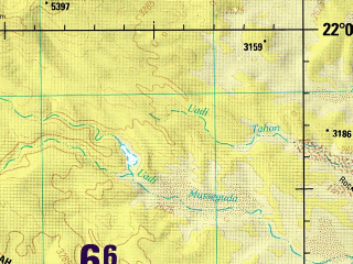 Reduced fragment of topographic map en--jog--250k--nf34-09--(1986)--N022-00_E018-00--N021-00_E019-30