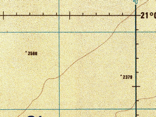 Reduced fragment of topographic map en--jog--250k--nf38-14--(1986)--N021-00_E043-30--N020-00_E045-00; towns and cities Al Quwayz, Ash Sharafa