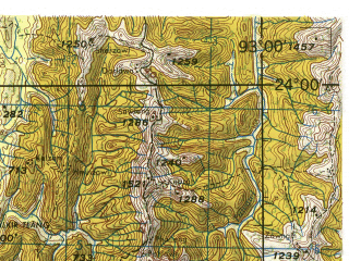 Reduced fragment of topographic map en--jog--250k--nf46-02--(1985)--N024-00_E091-30--N023-00_E093-00; towns and cities Khawruhlian, Lungtian, Marpara