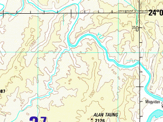 Reduced fragment of topographic map en--jog--250k--nf46-03--(1990)--N024-00_E093-00--N023-00_E094-30; towns and cities Khawbung, Khawhai, Kongtal