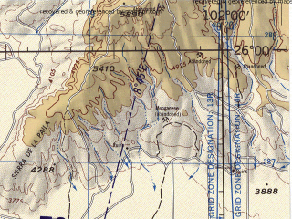 Reduced fragment of topographic map en--jog--250k--ng13-09--(1998)--N026-00_W104-00--N025-00_W102-00; towns and cities Torreon, Gomez Palacio, Parras, Francisco I. Madero, Ciudad Lerdo
