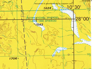 Reduced fragment of topographic map en--jog--250k--ng29-01--(1973)--N028-00_W012-00--N027-00_W010-30