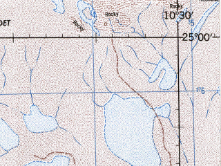 Reduced fragment of topographic map en--jog--250k--ng29-13--(1996)--N025-00_W012-00--N024-00_W010-30 in area of Sebkhet Oumm Ed Drous Telli