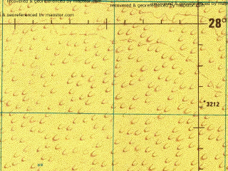 Reduced fragment of topographic map en--jog--250k--ng37-03--(1991)--N028-00_E039-00--N027-00_E040-30