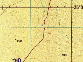 Reduced fragment of topographic map en--jog--250k--ng38-14--(1990)--N025-00_E043-30--N024-00_E045-00; towns and cities Ash Shubayrimah, Saffaqah, Al Faydah