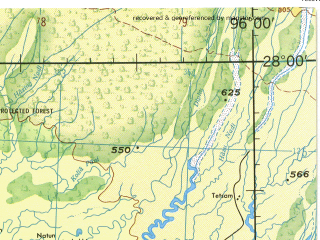 Reduced fragment of topographic map en--jog--250k--ng46-04--(1985)--N028-00_E094-30--N027-00_E096-00; towns and cities Jaipur, Linkhapani, Nakapur