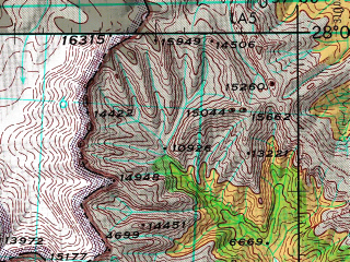 Reduced fragment of topographic map en--jog--250k--ng47-01--(1967)--N028-00_E096-00--N027-00_E097-30; towns and cities Ngalung Ga, Taipi Duidam, Te-ju