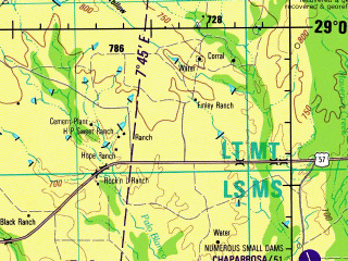 Reduced fragment of topographic map en--jog--250k--nh14-10--(1993)--N029-00_W102-00--N028-00_W100-00; towns and cities Piedras Negras, Eagle Pass, Zaragoza, Allende, Las Albercas