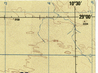 Reduced fragment of topographic map en--jog--250k--nh32-15--(1982)--N029-00_E009-00--N028-00_E010-30