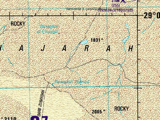 Reduced fragment of topographic map en--jog--250k--nh38-13--(1998)--N029-00_E042-00--N028-00_E043-30; towns and cities Turabah
